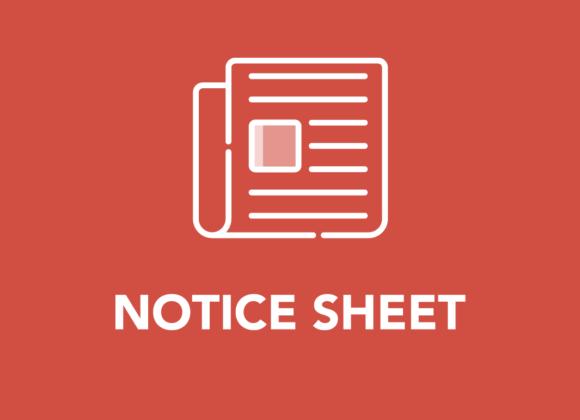 February Notice Sheet