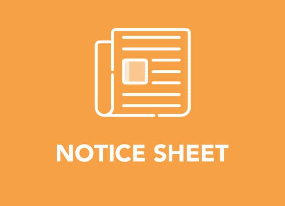 March Notice Sheet